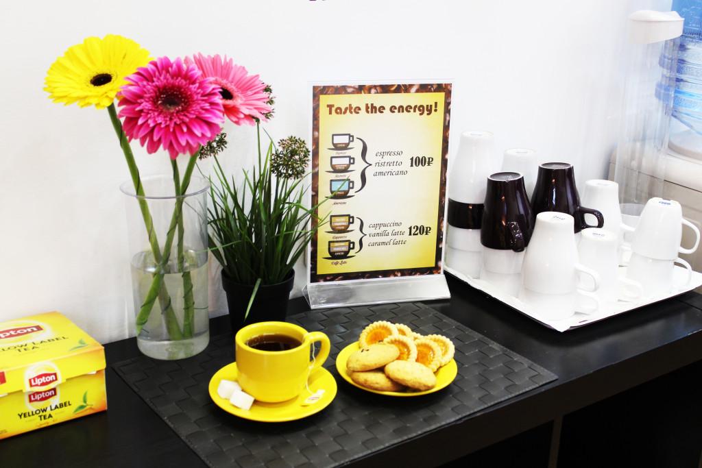 Чайная пауза -отличный способ пообщаться и немного подкрепиться